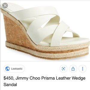 Jimmy Choo White Prisma Wedges 39.5